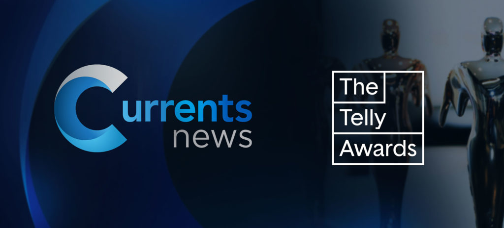 Currents News and Telly Award logos